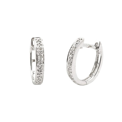 Oval Diamond Hoops