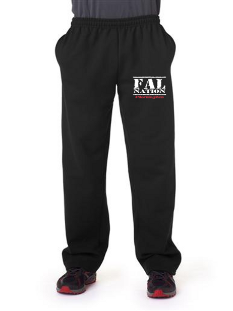 Black Sweatpants with FALNATION Embroidery