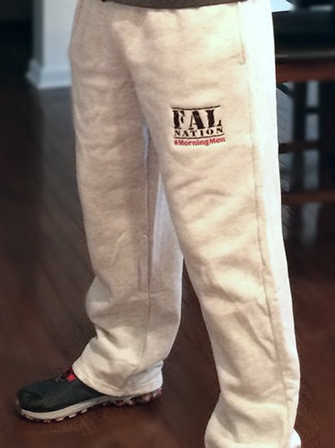 Ash Grey Sweatpants with FALNATION Embroidery