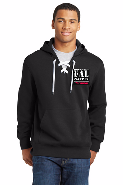 FALwear Lace Up Hockey Hoodie