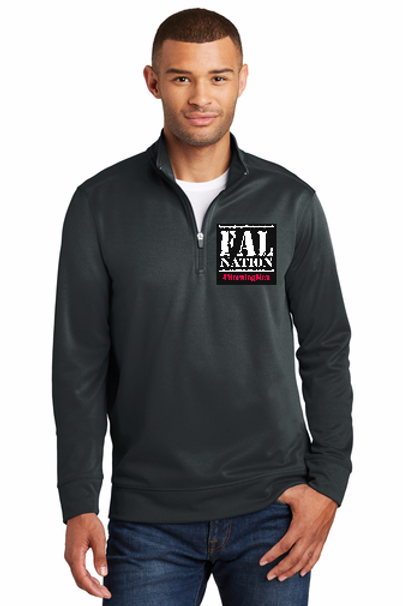 Black FALwear Performance Fleece 1/4 Zip