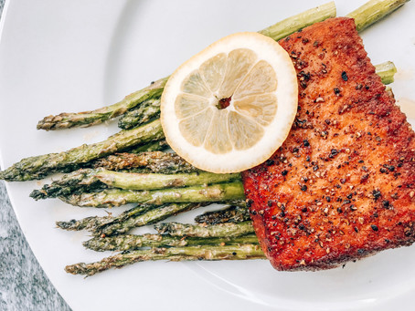 Seared Salmon + Asparagus