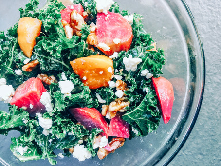 Golden Beet + Kale Salad (Cyclical Keto)
