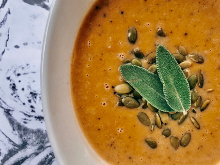Roasted Butternut Squash Soup (Cyclical Keto)