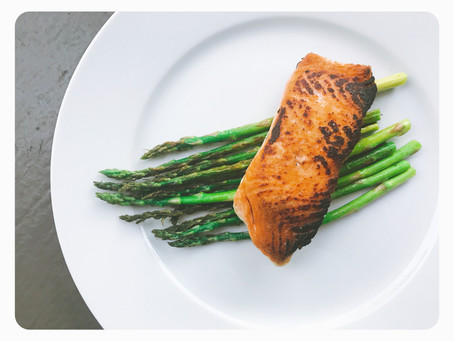 Simply Seared Salmon + Asparagus