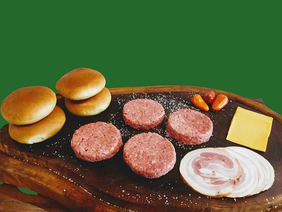 Kit c/ 4 Hambúrguers e Bacon