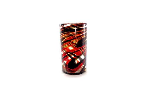Vaso Agua 2 Hilos Rojo/Chocolate