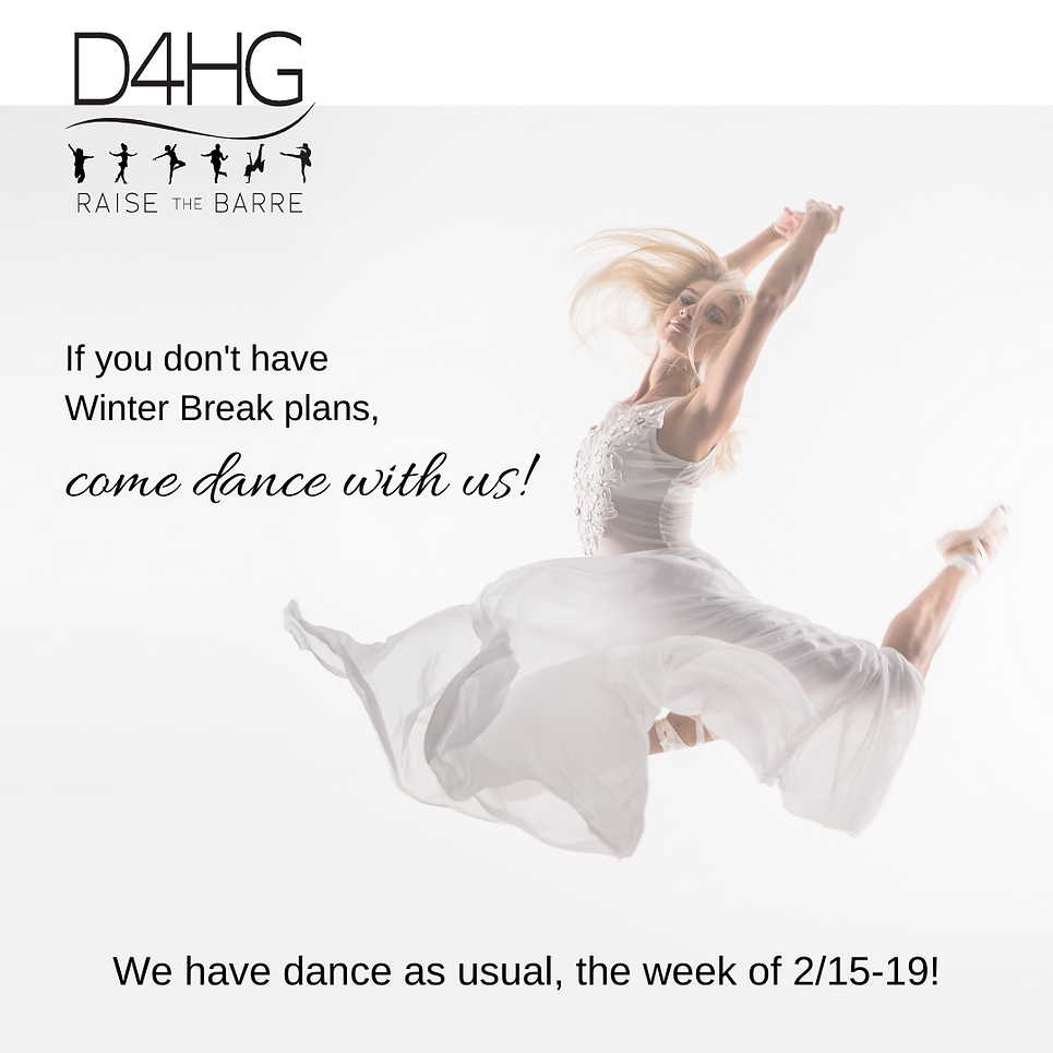 We have dance as usual the week of 2_15-