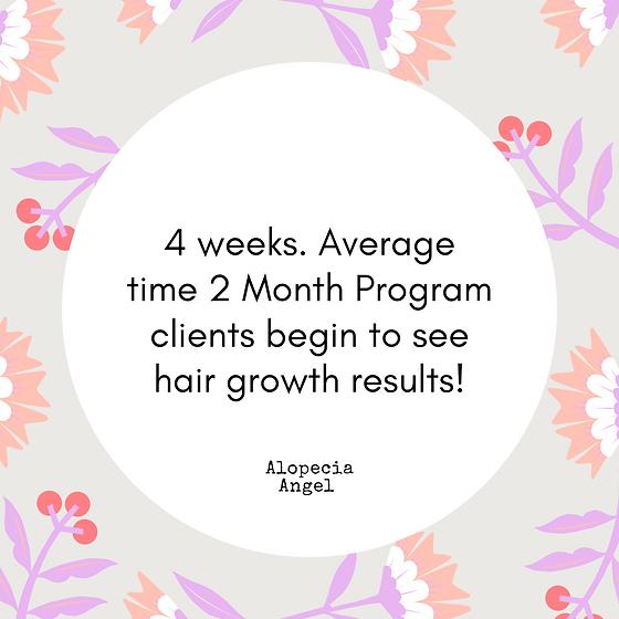 4 weeks. Average time 2 Month Program cl
