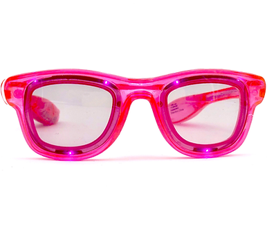 Bright Pink Cool Shades with FLASHING Lights