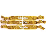 Gold GLITTER Hair Ties / Bracelets - Set of 6