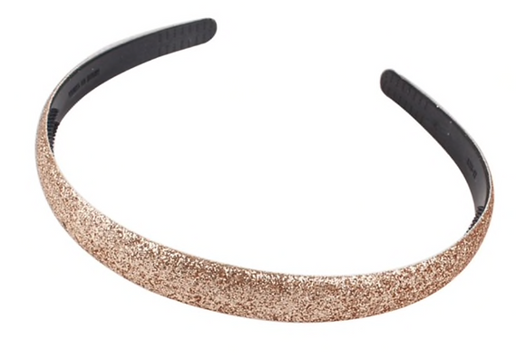CAROLINE Glitter Headband - Gold