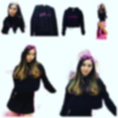 "New black cropped ""Caroline"" sweatshirt"