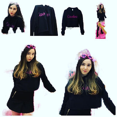 "New black cropped ""Caroline"" sweatshirt"