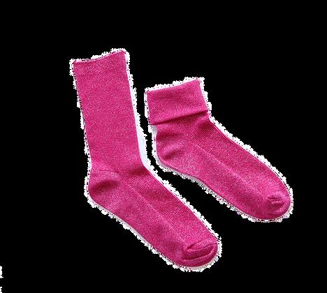 GLITTER Socks - Hot Pink