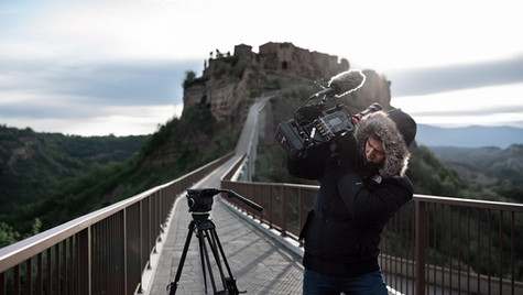 Documentary RAI at Cività di Bagnoregio