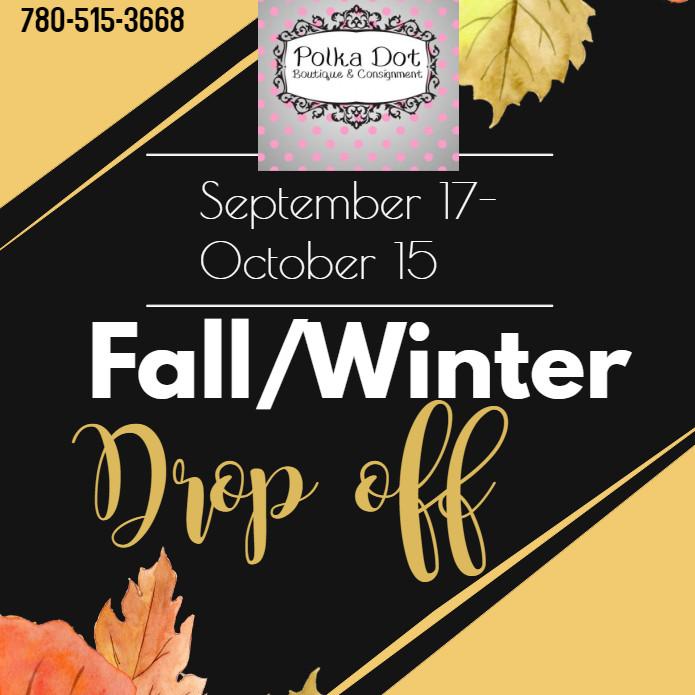 Fall 2019 Drop offs