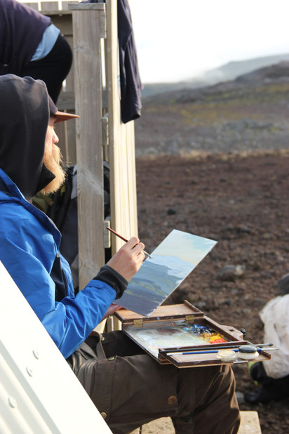 Painting in Iceland