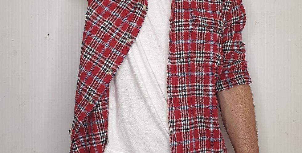 Vintage Red Atlas Flannel (Large)