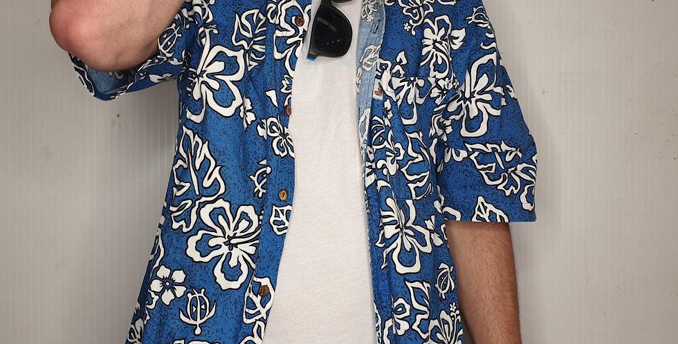 Blue Hawaiian Shirt (Large)