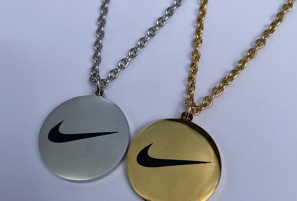 Swoosh Pendant Chain (Silver)