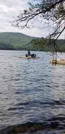 Kayaker on Merrymeet Lake