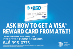 Get a $250 Visa Reward Card when you switch you phone service.