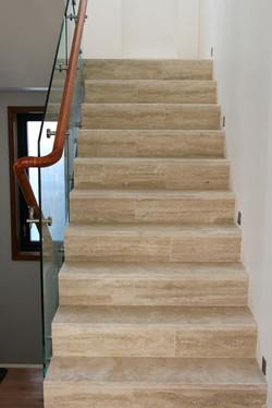 Travertine staircase