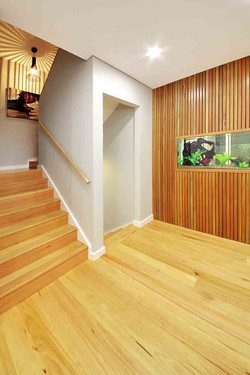 Staircase and fish tank