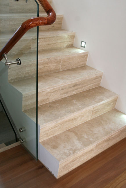 Travertine Staircase