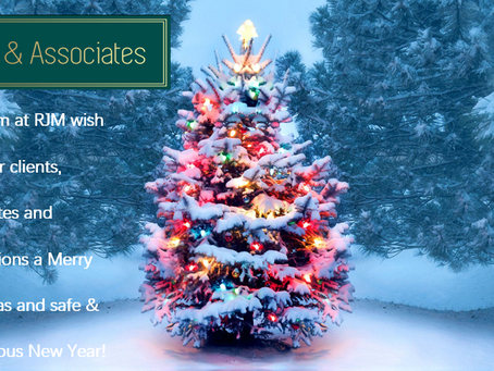 Merry Christmas & a Happy New Year To our Clients & Candidates from our Team at RJM !