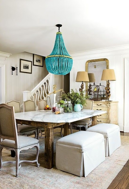 Currey & Co Turquoise Chandelier