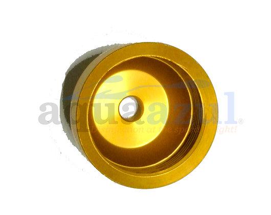 Anodized Aluminum Quartz Nipple Cap w/ Hole (Bronze)
