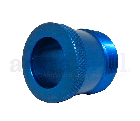 Anodized Aluminum Quartz Nipple Short (Blue)