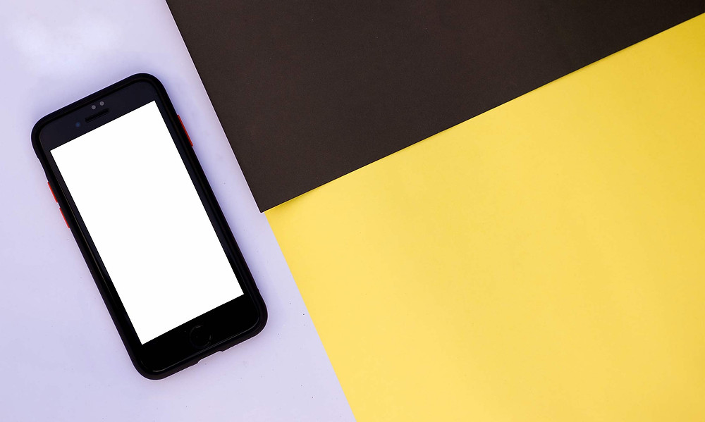 smartphone on colourful background