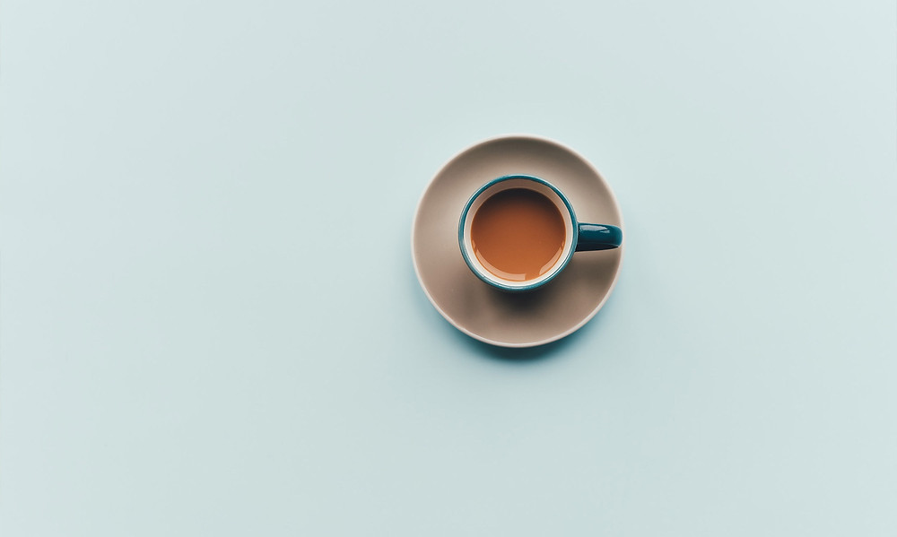 coffee on a blue background
