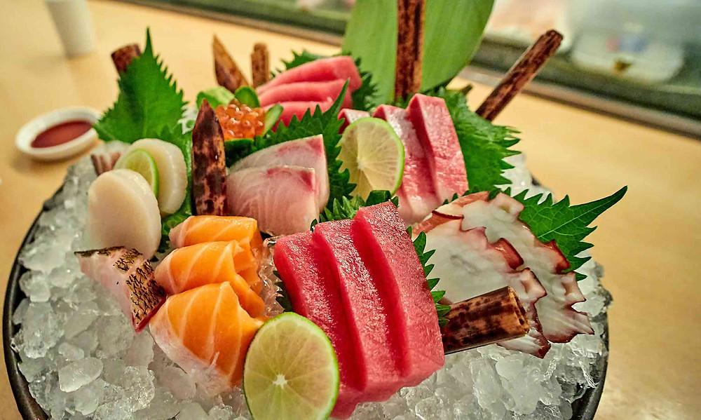 colourful sushi plate