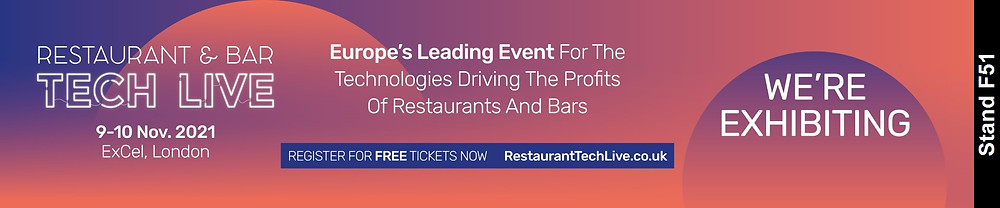 restaurant & bar tech live banner promoting the 2021 event