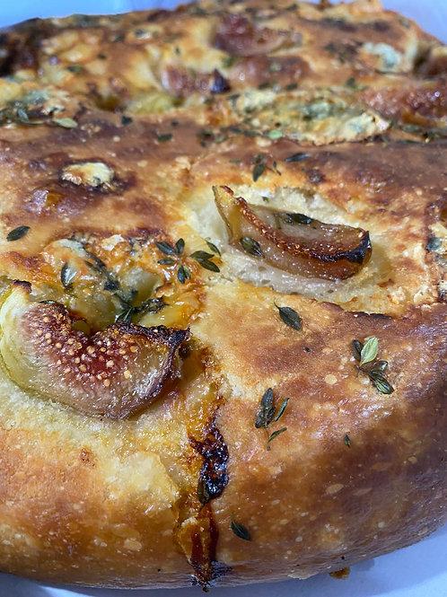 Focaccia Figos e gorgonzola {pequena}