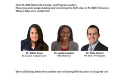 Introducing the 2021 ALL NYC EM Fellows!