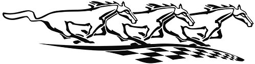 Horses with Checkered Flag, Right