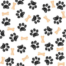 background-with-dog-paw-print-and-bone-v