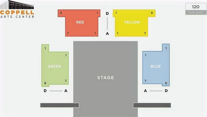 Coppell Arts Center Black Box Theatre Seating Chart