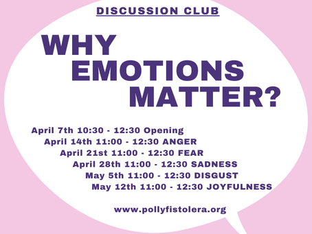 "April 14th - Discussion Club ""Why Emotions Matter?"" Online"