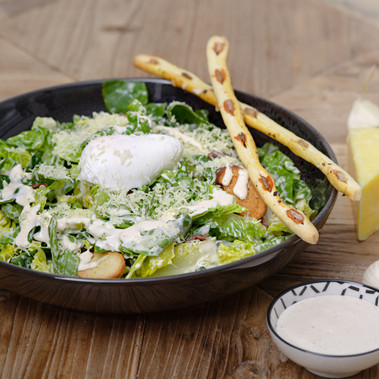 Caesar Salad with Anchovy Grissini