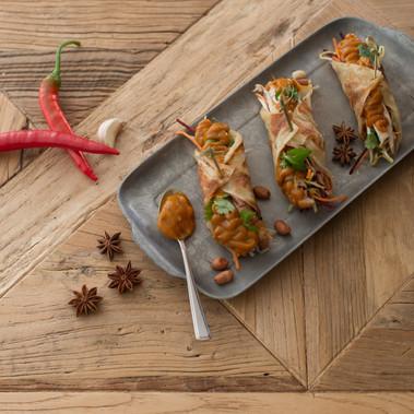 Roast Chicken Satay Roti Wrap