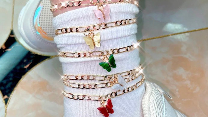 Butterfly Anklets