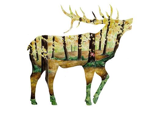Elk - Art Print