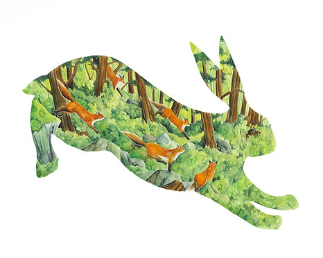 Rabbit - Art Print
