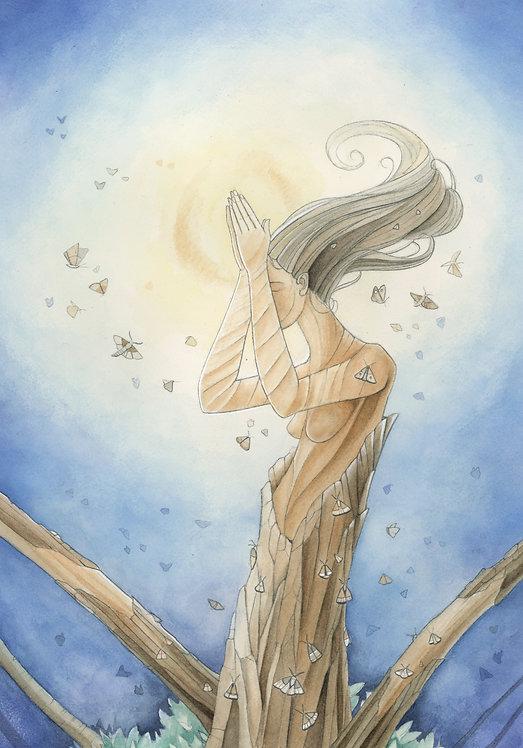 All My Hope - Original Framed Watercolor